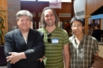 From L to R: Kevin Killian, David Lau, and Brian Ang. Photo (c)2012 by Star Black.