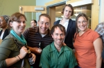 From L to R: Sara DiMaggio, Andrew Mulvania, Andy Meyer, J. Peter Moore, and Sarah Cohen.  Photo (c)2012 by Star Black.