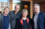 From L to R: Alan Golding, Stephen Fredman, Marjorie Perloff, & Peter Middleton. 