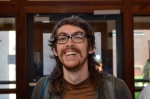 Poet, UMaine undergrad, and conference volunteer Sean Miller. 