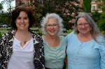 From left to right: Kimberly Lyons, Donna Hollenberg, Linda Kinnahan.  Photo (c)2012 by Star Black.