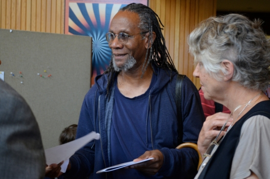 Nathaniel Mackey & Penelope Creeley at the Orono 80s conference.  Photo (c) Star Black 2012.
